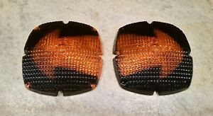 2 Vtg Cats eye 9382 Jumbo Arrow Lenses Turn Signal Light Lens Truck Bus Rat Rod