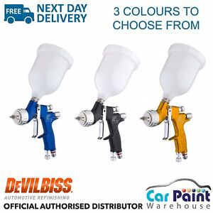 Devilbiss Gti Pro Lite X 2 Spray Guns Deal clear Base Topcoat Mix