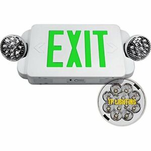 Etoplighting Lighted Exit Signs Led Green Emergency Combo With Battery Back up