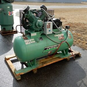 Speedaire 120 Gallon 10 Hp 3 Phase Electric Horizontal Tank Air Compressor