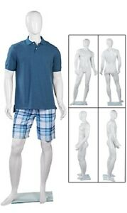 Full Body Mannequin Form Male Glossy White Retail 6 2 Tall Man Chest 41