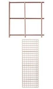 Grid Panel 2 X 6 Set Of 2 Panels Rose Gold Retail Display Craft Wire Gridwall