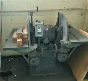30 Oliver Twin double Disc Sander 34 dd 220v 3ph 5hp W Extra Sanding Discs