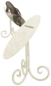 6 Ivory 8 Shoe Stands Display Metal Retail Cream Tilted Stay Ledge Shoes Heals