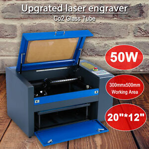 50w Co2 Laser Engraving Cutting Machine Engraver Cutter Usb Port 300 X 500mm Hot