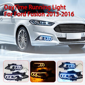 3 Led Drl Daytime Running Fog Driving Light Replacement For Ford Fusion 13 16