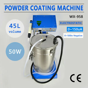 110 220v Powder Coating System With Spraying Gun Electrostatic Machinewx 958