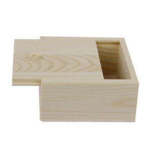 Small Plain Wooden Storage Box Case For Jewellery Small Gadgets Gift Wood C R5o5