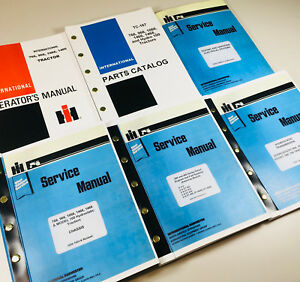 International 966 1066 Hydrostatic Tractor Service Parts Operators Manual Set Oh