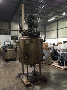 Pfaudler Reactor 200 Gal stainless Steel Jacketed Pressure Vessel Mixer reactor