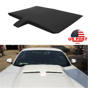 Black Injection Car Air Engine Gt type Hood Scoop Cover For 15 17 Ford Mustang