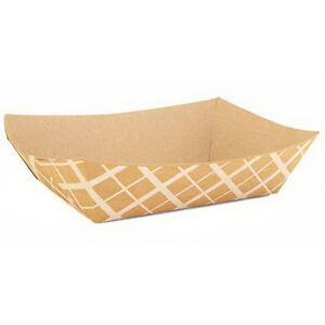 Paper 500 Nested Food Tray Brown 5 Lb 8 5 L X 5 75 W X 2 D 500 case
