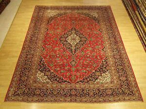 8 X 11 6 Hand Knotted Handmade Antique1930s Persian Oriental Rug Soft Fine Wool