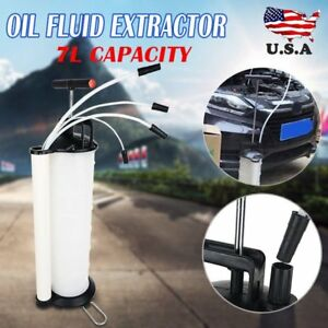 Manual 7liter Oil Changer Vacuum Fluid Extractor Pump Tank Remover Car New Exc