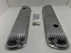 Sbf Finned Aluminum Valve Covers 289 302 351w 5 0l Fits Sb Ford
