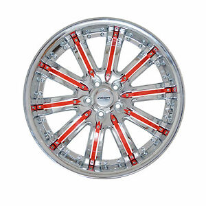 4 Gwg Wheels 20 Inch Chrome Red Rims Fits Mitsubishi Lancer Evolution 2008 2015