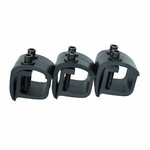 Set Of 6 Aluminum Mounting C Clamps For Non Drilling Truck Rack Black