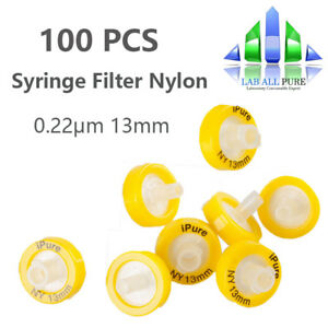 100pcs Nylon Syringe Filter Membrane 0 22 m Pore Size 13mm Hplc Disposable Pure