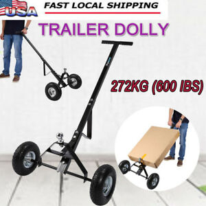 600lb Trailer Mover Rv Boat Trailor Hitch Moving Cart Hand Dolly High Quality