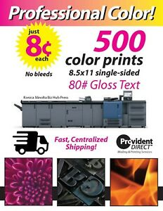 Color Prints copies Brochures flyers 1 sided 80 Gloss Text