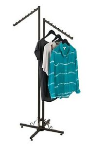 Clothes Rack Two Way 2 Slant Arms Clothing Garment Retail Display 72