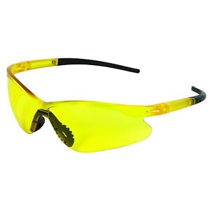 Jackson Safety 39677 V20 Pro Safety Glasses Amber Lenses Black Tips 12 Pack