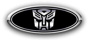 Ford Fusion 2013 2017 Autobot Custom Overlay Logo Sticker Emblem Decal 3pc Kit