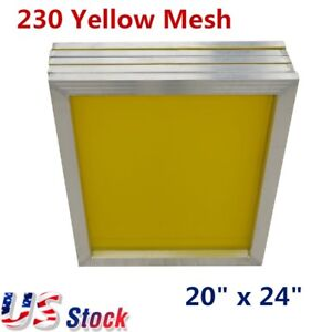 6pcs 20 X 24 Aluminum Frame Silk Screen Printing Screens 230 Mesh Us Stock