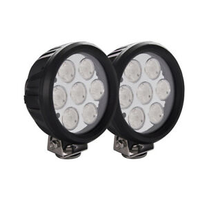 2x 6inch 70w Round Led Work Light European Driving Fog Lamp Offroad 4x4 Suv Boat