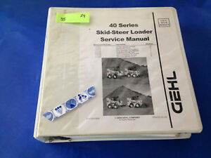 Gehl Sl4640 4840 5640 6640 Skid Steer Loader Service Shop Repair Workshop Manual