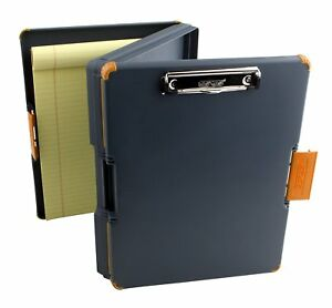 Duo Clipcase Clipboard Dual Sided Poly Storage Case And Organizer Orange