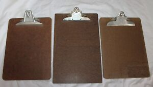 Vintage Lot Of 4 Clipboards Wall Mount Receipt Holder Oic Buill Elbe