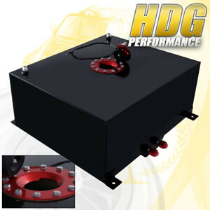 80 Liter 21 Gallon Black Aluminum Fuel Cell Tank W Red Cap Track Upgrade