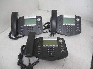 Lot Of 3 Polycom Soundpoint Ip 550 560 650 2201 12630 001 Telephones T4 b12