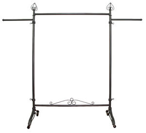 Clothing Metal Rolling Rack For Garment Display