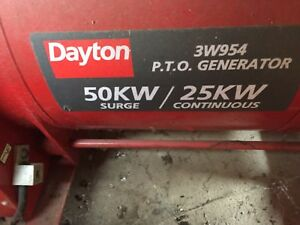 Pto Generator 50kw Surge 25 Kw Continuous