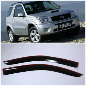 Te210700 Window Visors Guard Vent Wide Deflectors For Toyota Rav4 3d 2000 2005