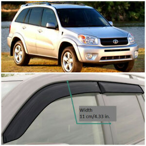 Te21900 Window Visors Guard Vent Wide Deflectors For Toyota Rav4 5d 2000 2005