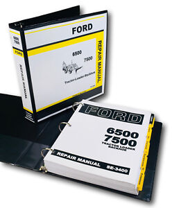 Ford 6500 7500 Tlb Tractor Loader Backhoe Service Repair Manual Shop Book