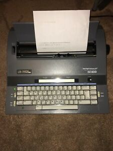Smith Corona Electric Correctable Typewriter Sd 800 Word Processor W Dictionary