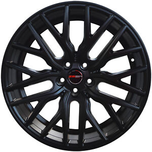 4 Gwg Wheels 20 Inch Staggered Matte Black Flare Rims Fits Dodge Charger Srt Hel