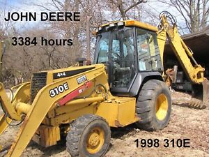 3384 Hrs 1998 John Deere 310e Backhoe Loader 4x4 ext a hoe heated Cab With A c