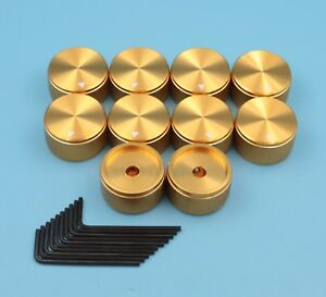 10 gold 30 17 6mm Potentiometer Knob Control Rotary Cap For Audio Equipment New