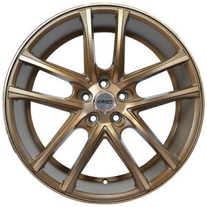 4 Gwg Wheels 18 Inch Matte Bronze Zero Rims Fits Honda Civic Sedan 2012 2018