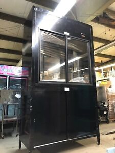 5 Hussmann Abg28575r Upright Ab Straight Glass Aged Beef Meat Display Case New