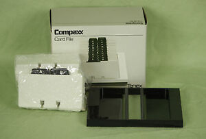 New Tenex Contact Business Card File Like A Rolodex Compaxx 515d 4x2 1 4 Cards
