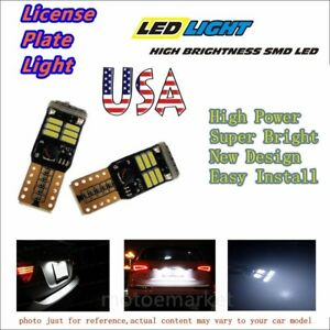 Us Car Led T10 192 License Plate Light No Error 168 W5w Lamp 4014 18smd 194 Bulb
