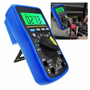 Autorange Multimeter Dc Ac Ohm Frequency Capacitance Temperature Battery Tester