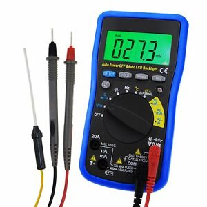 Digital Multimeter Dc Ac Autoranging Frequency Capacitance With Lcd Backlight
