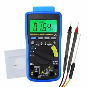 Auto Range Multimeter Tester Cd Software Cable Capacitance Frequency Duty Cycle